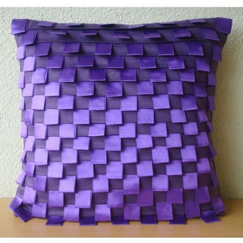50cm x 50cm purple the homecentric pillow covers 20x20 purple luxury purple cushion covers pintucks ribbon loops pillows cover modern throw