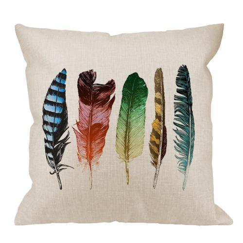design 98 hgod designs feathers decorative throw pillow cover case colourful feathers cotton linen outdoor pillow cases square standard cushion