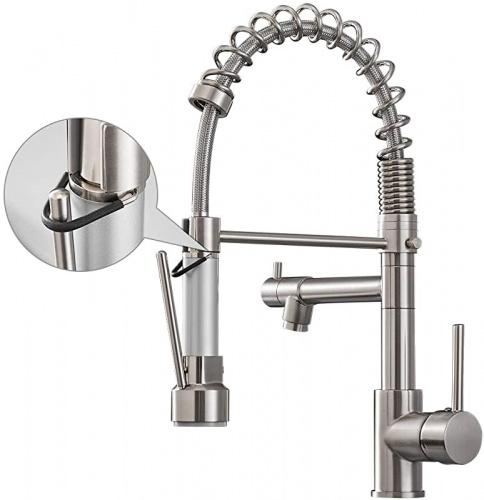 brushed nickel aimadi kitchen faucet with pull down sprayer commercial single handle high arc stainless steel brushed nickel kitchen sink faucet