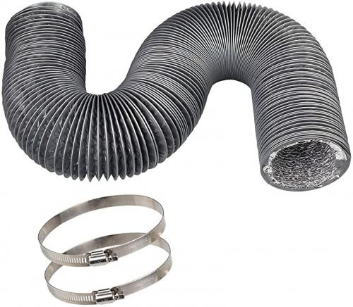 vent duct hose 10cm 3 7m cbtone flexible 4 layers aluminium dryer vent hose air hose great for hvac duct clothes dryer duct air duct 2 clamps