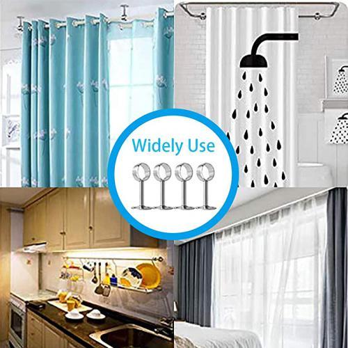 4pcs curtain rod ceiling bracket ceiling mount curtain rod bracket 32mm 1 25 inch sliver stainless steel curtain rod brackets wardrobe pole holder