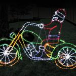 Stockholm Christmas Lights Led Rope Santa Claus Riding Bike Outdoor Garden Xmas 133x91cm Matt Blatt