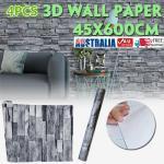 4pcs 45cm 6m 3d Wall Paper Panel Brick Stickers Mural Marble Adhesive Diy Decal Matt Blatt