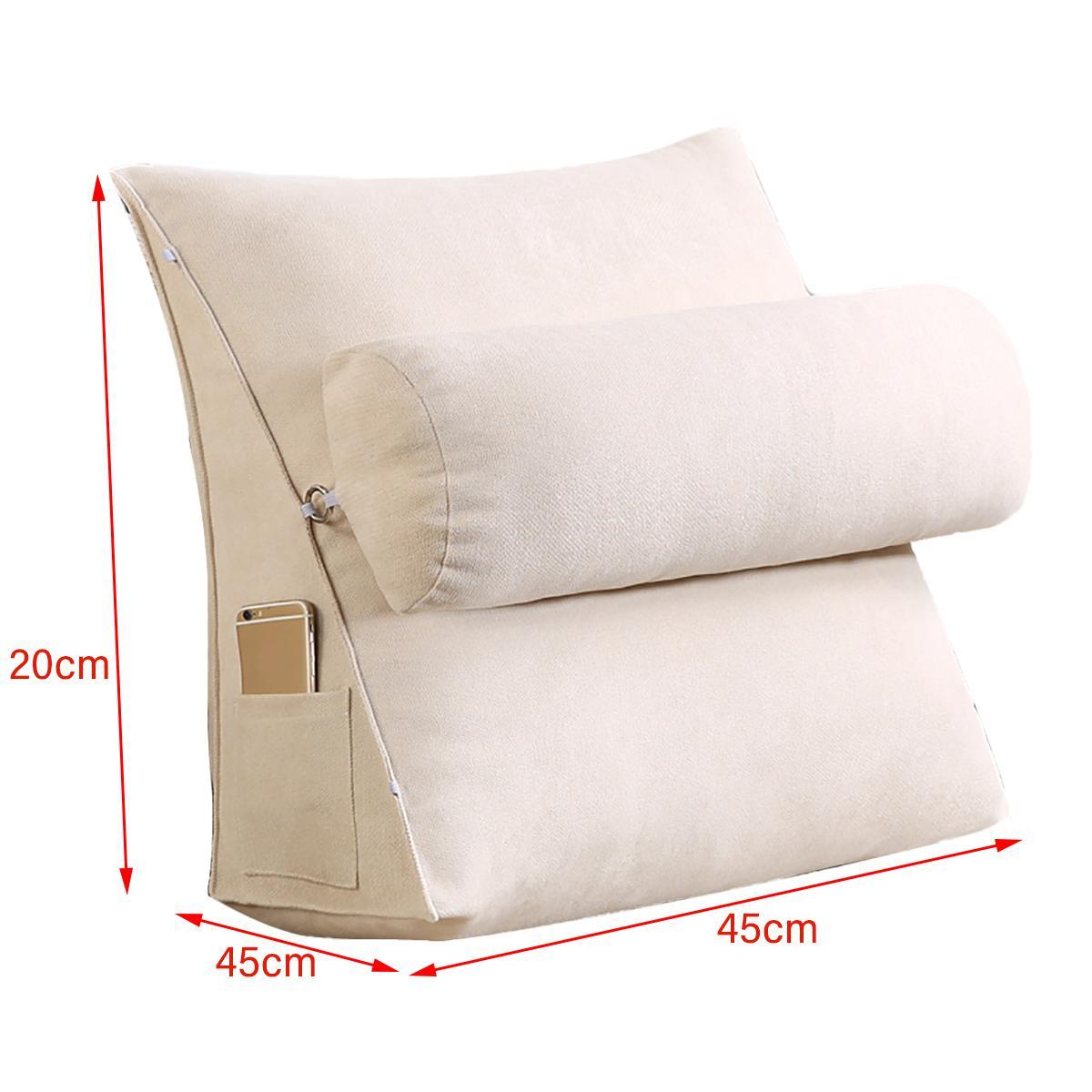 45cm wedge back pillow rest sleep neck home sofa bed lumbar office cushion