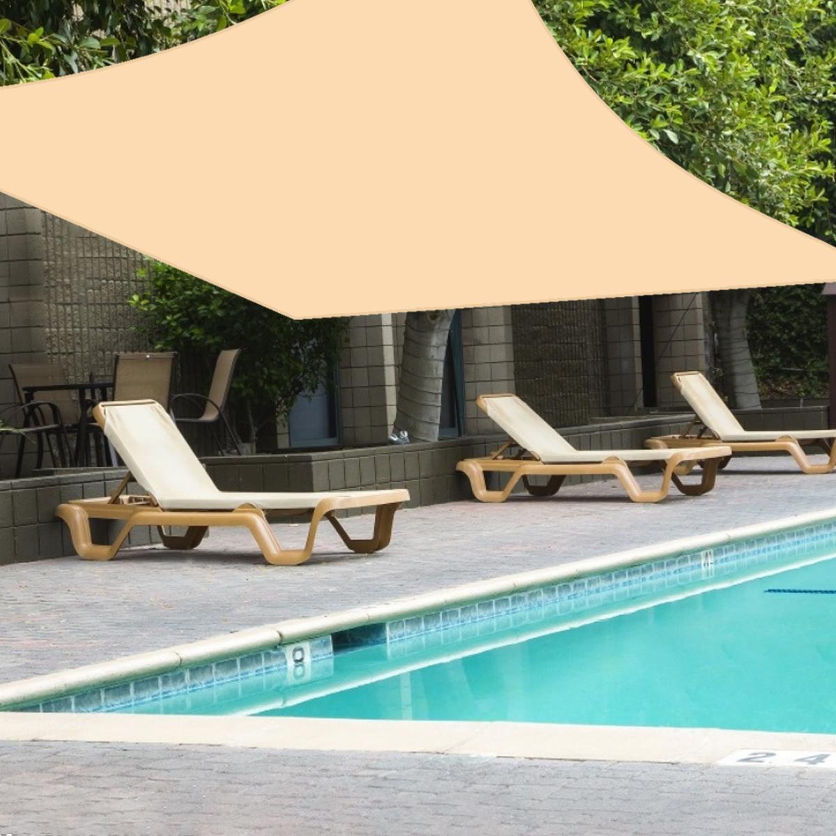 20x20 6 6m garden decor outdoor patio sun shade cloth with grommets garden sun shade sails canopy shelter cover sunshades for yard