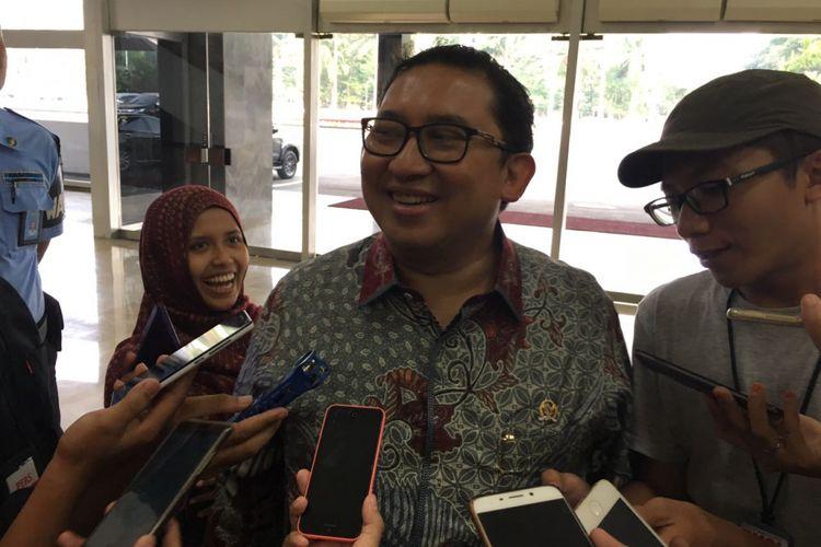 Wakil Ketua DPR RI Fadli Zon di Kompleks Parlemen, Senayan, Jakarta, Kamis (28/9/2017).