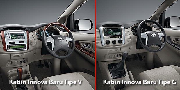 perbedaan all new kijang innova tipe g dan v grand avanza pakai premium nih baru lama tribun manado kabin setir