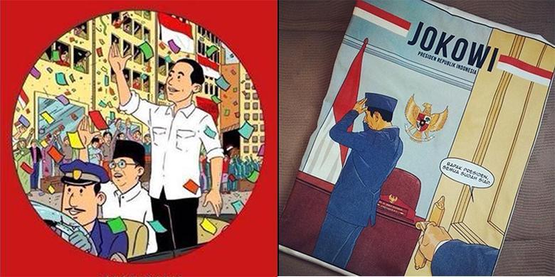 Netizen Sambut Presiden Jokowi dengan Aneka Kartun