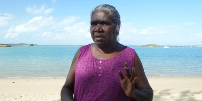 Gayili Marika Yunupinu, salah satu keturunan klan Gumatj, suku Yolngu, penduduk Aborigin di Arnhem Land, Northern Territory, Australia.