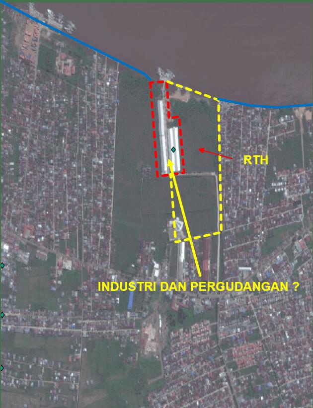Hasil overlay citra penggunaan lahan dengan peta rencana pola ruang