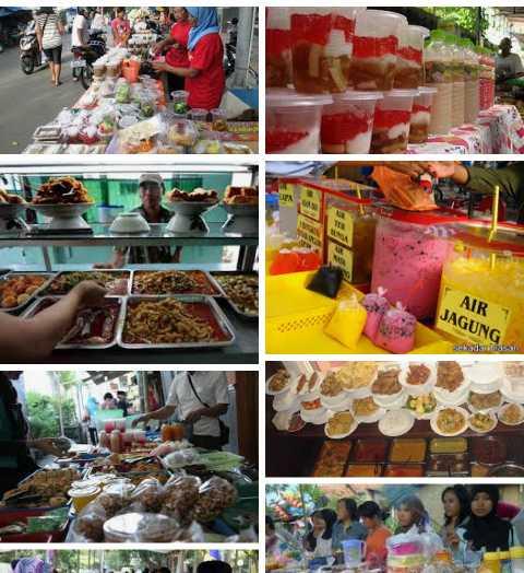 Koleksi Pribadi | Jualan makanan di pinggir jalan, pada Bulan Puasa