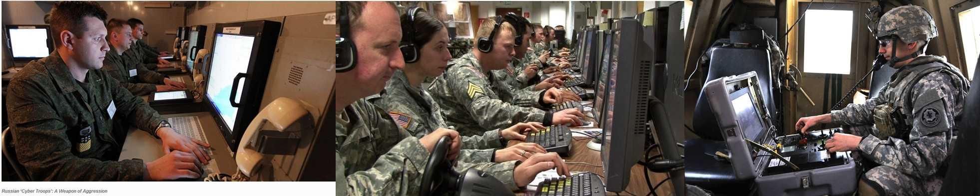 Pasukan Cyber Rusia (kiri), AS (CIA tengah) dan Rusia (kanan). Sumber : http://foreignpolicy.com, founderscode.com dan http://yournewswire.com