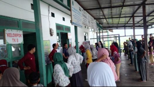 Dokpri : Tampak antusias masyarakat saat Senam