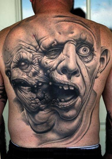 Tato Punggung Pria : punggung, Keren, Punggung, Tattoo