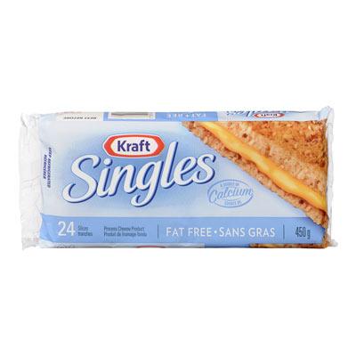 KRAFT SINGLES Fat Free Cheese Slices