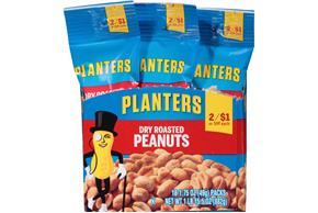 Planters Dry Roasted Peanuts 18175 oz Packs Kraft Recipes