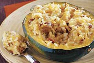 Roasted Acorn Squash With Quinoa Stuffing