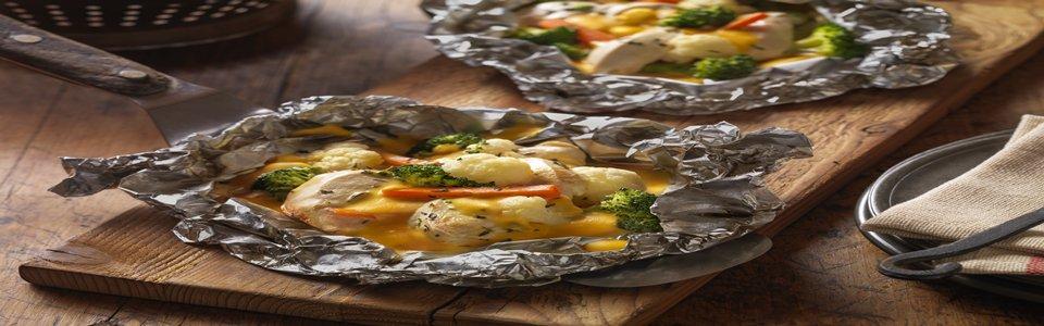VELVEETA Easy Chicken Campfire Packs Kraft Recipes
