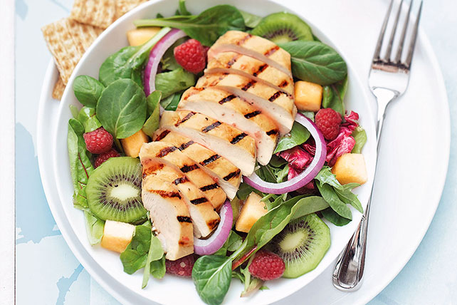 Grilled Chicken and Fruit Salad  Kraft Recipes