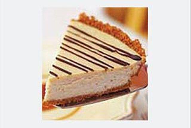 Pay de cheesecake con caf y salsa de caramelo Receta