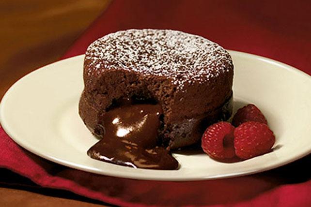 Dark Molten Chocolate Cakes  Kraft Recipes