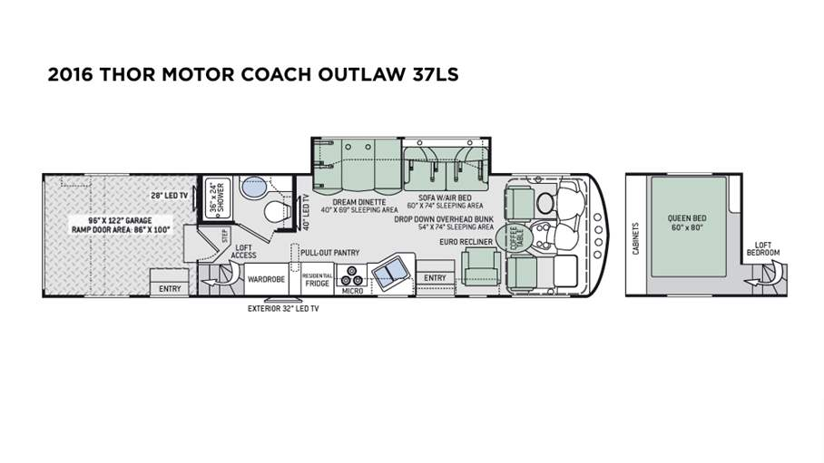 2016 Thor Motor Coach Outlaw 37LS For Sale In Tampa, FL