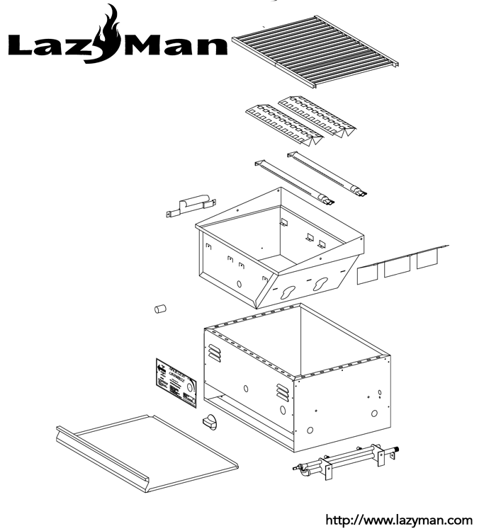 LazyMan-MG25-parts-list » LazyMan Gourmet Grills