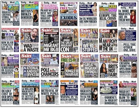 Image result for migrant front pages UK