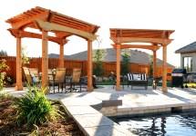 redwood pergolas provide luxury