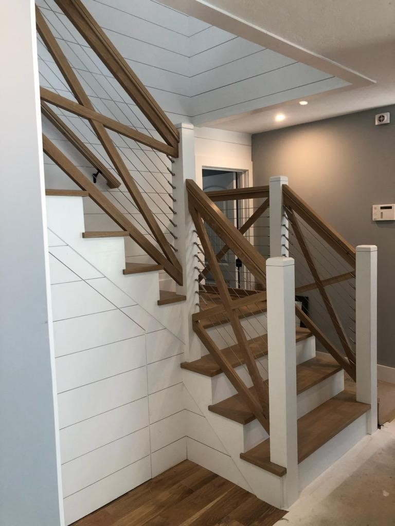 Move Over Decks Using Cable Railings Indoors Lbm Journal | Handrail For Stairs Indoor | Short Staircase | Victorian | Width Hand | Wall | Glass Panel Stainless Steel Handrail