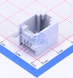 shenzhen cankemeng pcb 6p2c 90degree boundless gray full gold pdf datasheet ethernet connectors modular connectors rj45 rj11 in stock lcsc com [ 900 x 900 Pixel ]