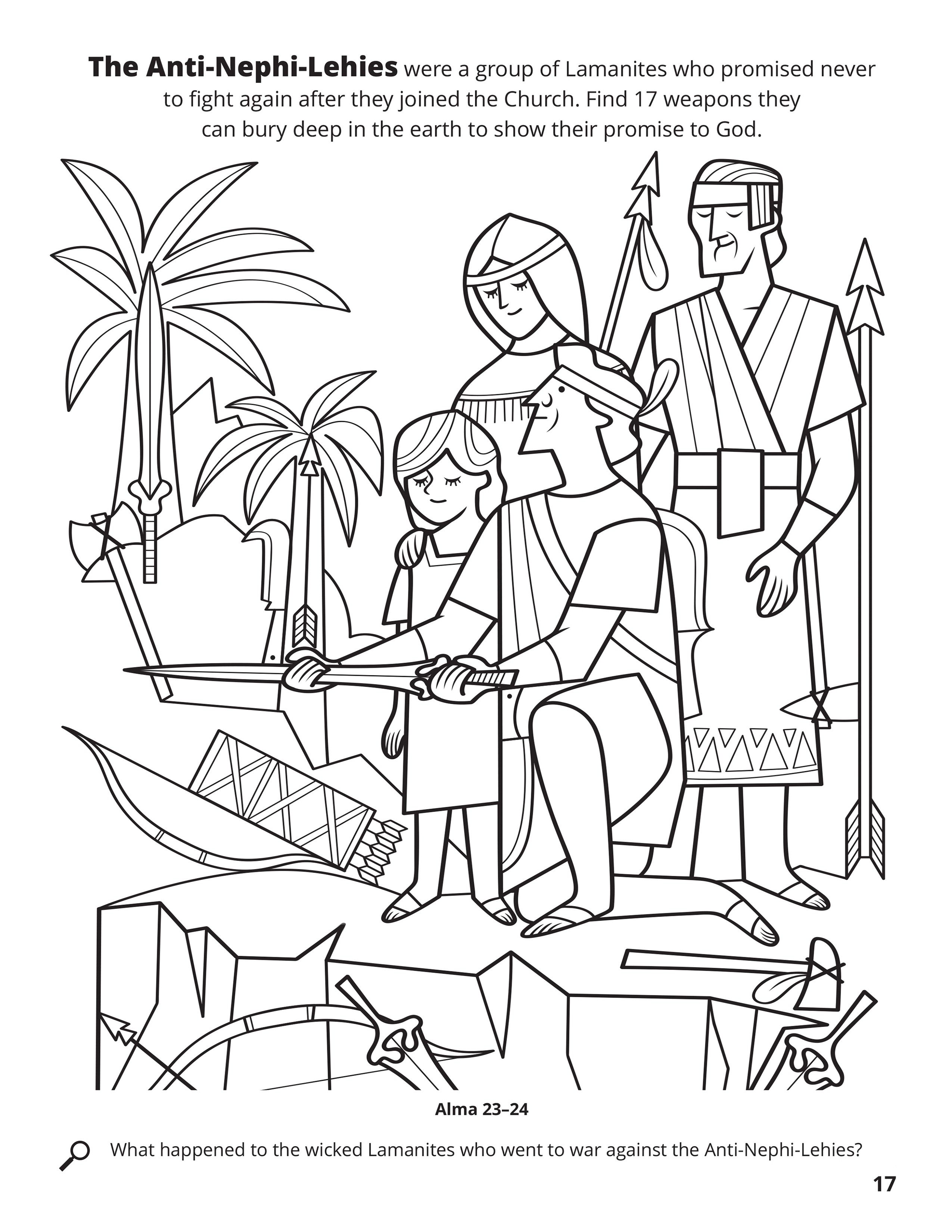 Nephi Coloring Page : nephi, coloring, Anti-Nephi-Lehies, Their, Weapons