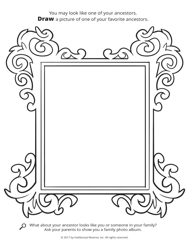 Family History Coloring Pages