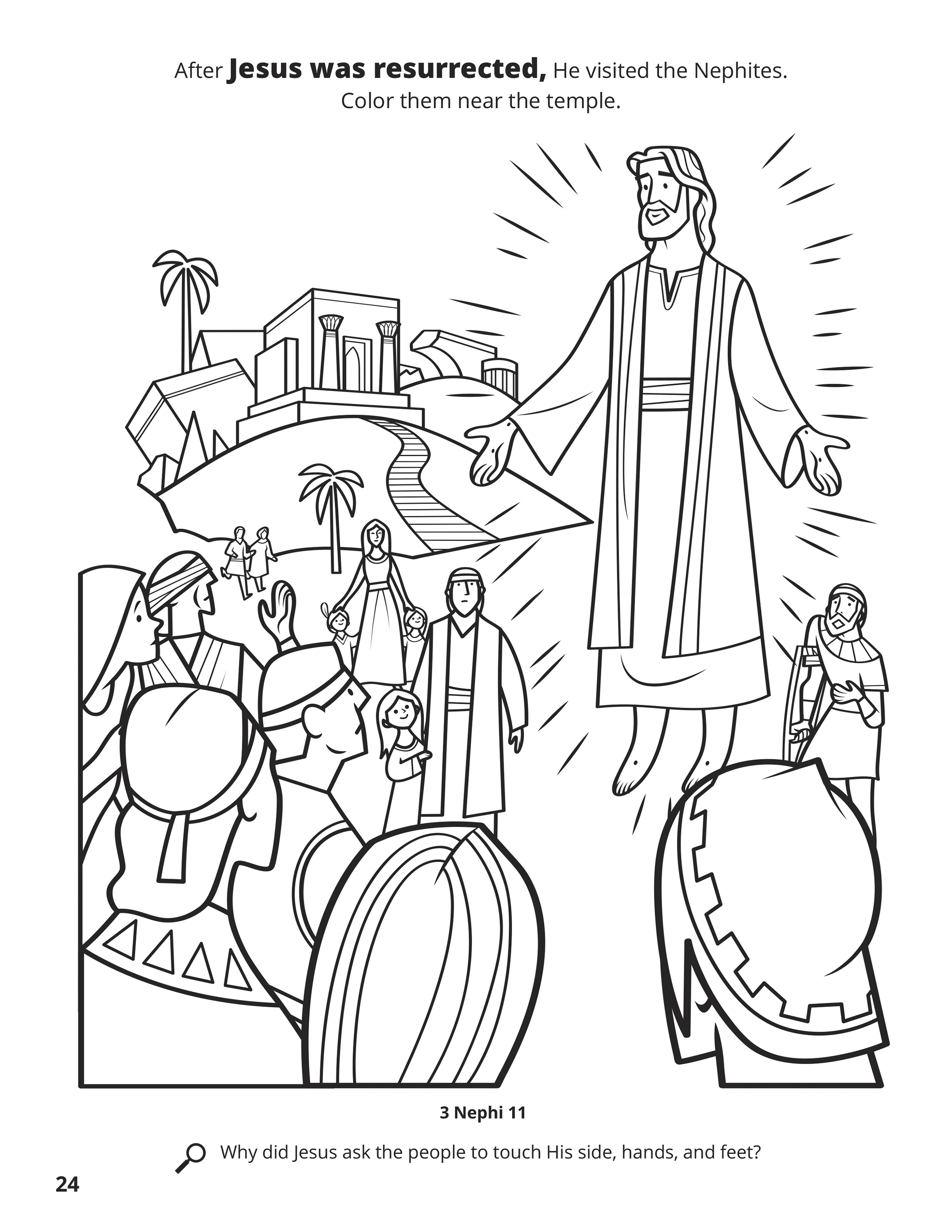 Nephi Coloring Page : nephi, coloring, Jesus, Appears, Nephites