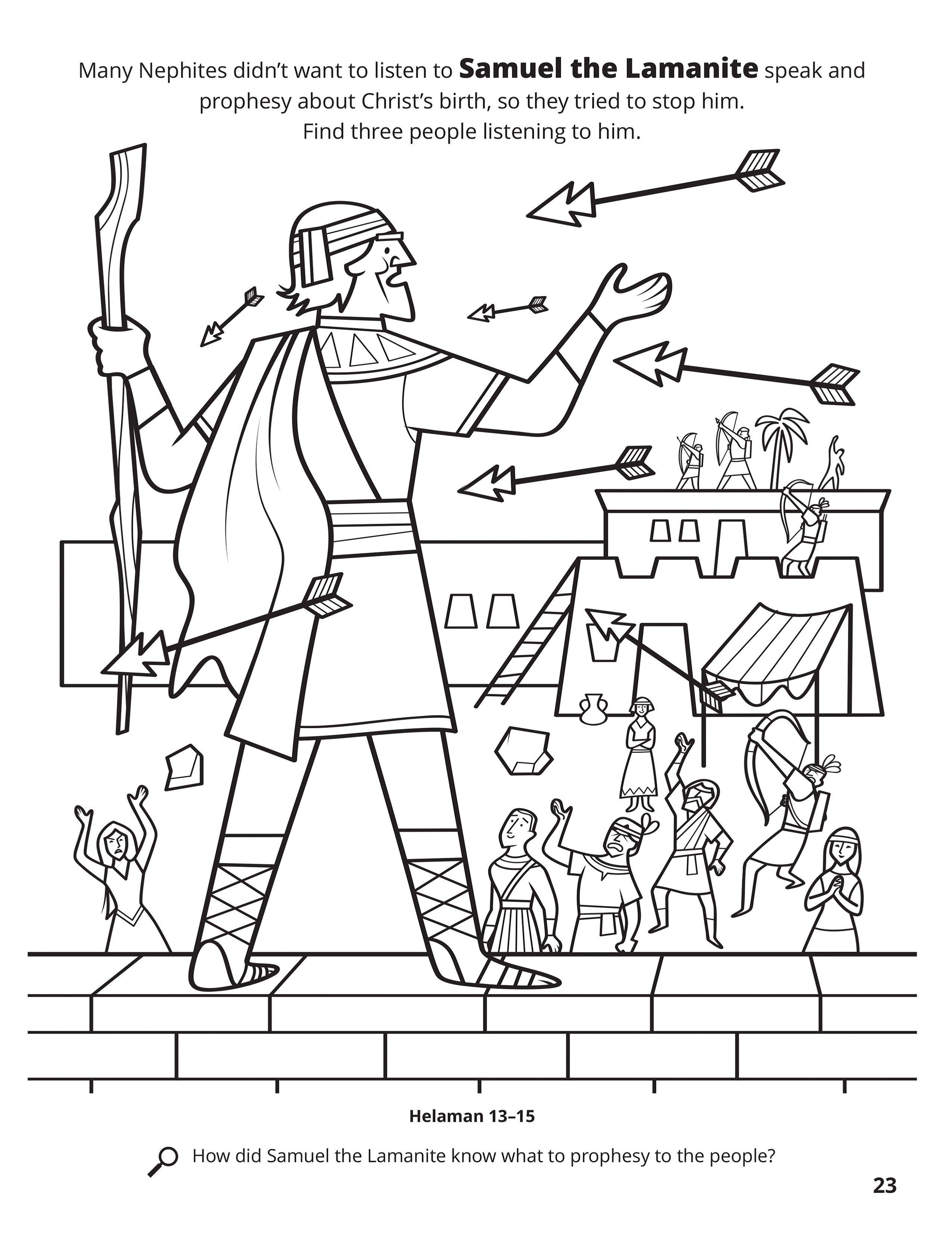 Samuel Coloring Pages : samuel, coloring, pages, Samuel, Lamanite