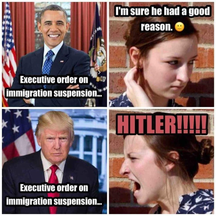 Obama vs Trump on Immigration Pause