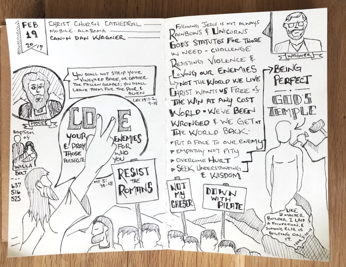sabbadoodle - jesus - sermon on the mount - sketchnote - moses - drawing