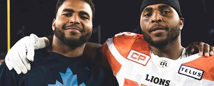 Jordan Herdman and twin brother Justin - BCLions.com