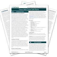 There Will Come Soft Rains Plot Diagram Gram Positive Cell Wall Study Guide Literature Litcharts The Printed Pdf Version Of Litchart On