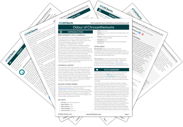 Odour of Chrysanthemums Study Guide from LitCharts  The