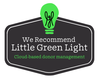 We recommend Little Green Light for donor management