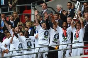 Swansea's tribute to Besian Idrizaj
