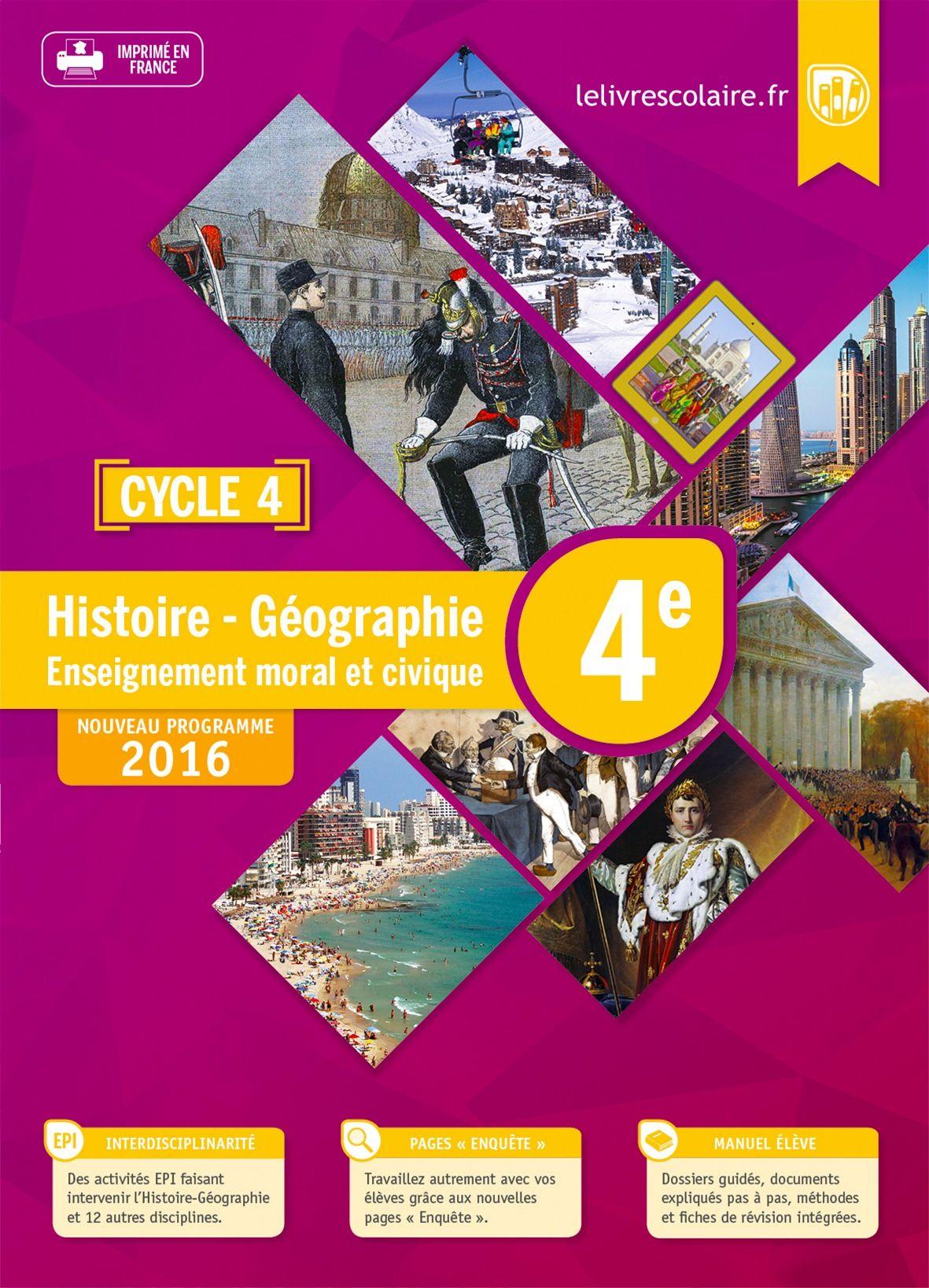 Le Livre Scolaire Histoire 4e : livre, scolaire, histoire, Manuel, Histoire-Géographie-EMC, Lelivrescolaire.fr
