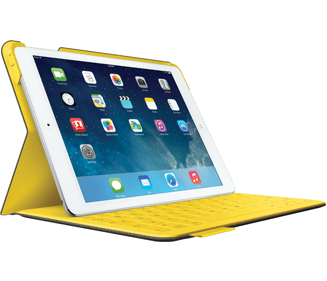 適用於 iPad Air 的布面鍵盤折疊保護組 - 羅技