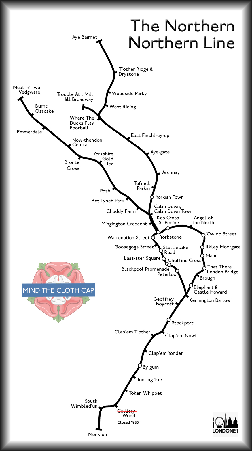 What The Northern Line Would Look Like If It Was Actually