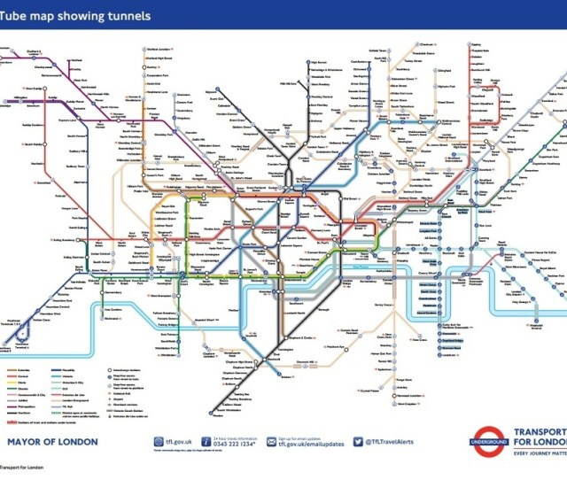 A Tube Map For Passengers With Claustrophobia And Anxiety