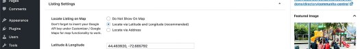 Directory listing post editing