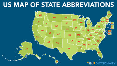 View a us map with. List Of All 50 Us State Abbreviations
