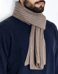 Men's Pure Cashmere Ribbed Scarf