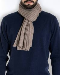 Men's Pure Cashmere Ribbed Scarf | MaisonCashmere